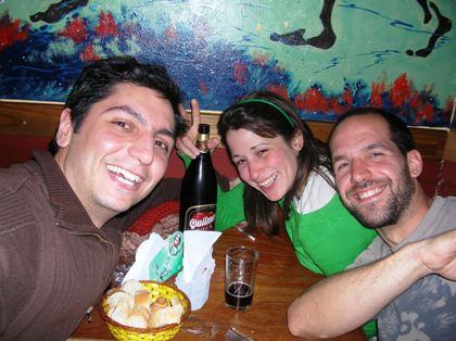 Yo, Paulina y Serchi. Autofoto